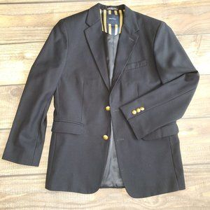 Boys Nautica Navy Blazer Gold Embossed Buttons 16R